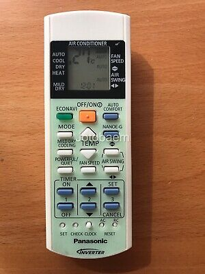 Panasonic Air Conditioner Replacement Remote Control A75C3298, A75C3429 |  eBay