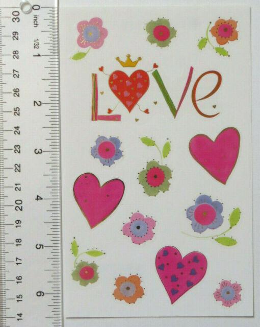 Mrs Grossman HAPPY HEARTS Love Stickers MULTI COLOR VALENTINE LOVE