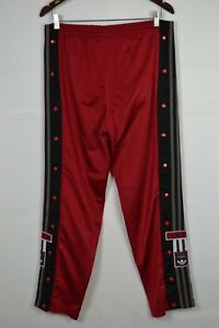 Mens-Vintage-Adidas-Three-Stripes-Track-Top-Pants-Vintage-90s-Retro-Black-Red