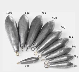 10g-100g Beach Bomb Lead Fishing Weights Lure Cod Sea Pier Mackerel Bait Casting