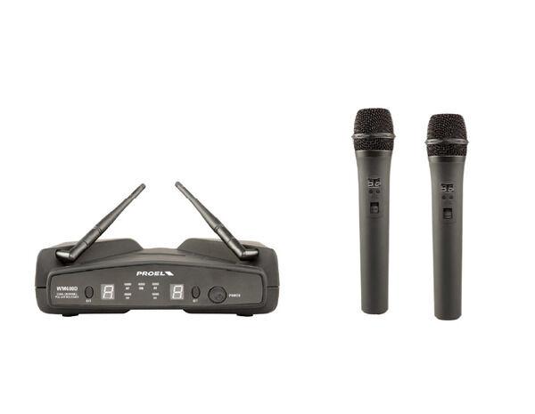 ordinare on-line Proel WM600DM DUAL coppia microfoni wireless + custodia x x x karaoke canto live  benvenuto per ordinare