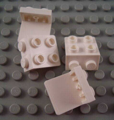 New LEGO Lot of 4 White 1x2-1x2 Space Bracket Pieces