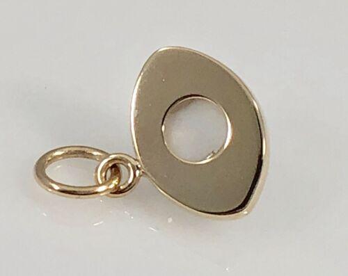 14K Yellow Gold Evil Eye Protection Strong Pendant// Charm Medium Dije de Ojo