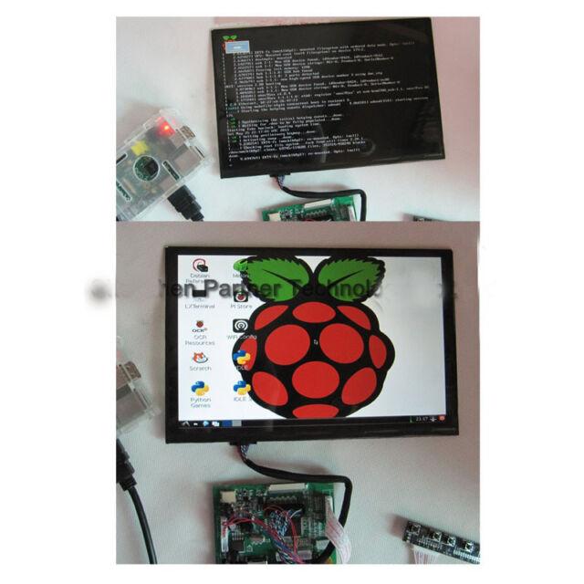 "10.1"" TFT LCD Display Module HDMI+VGA+2AV Driver Board for Raspberry Pi 12v car"