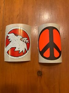 Vintage-Woodstock-Hippie-Peace-Movement-Sticker-Pair-Look