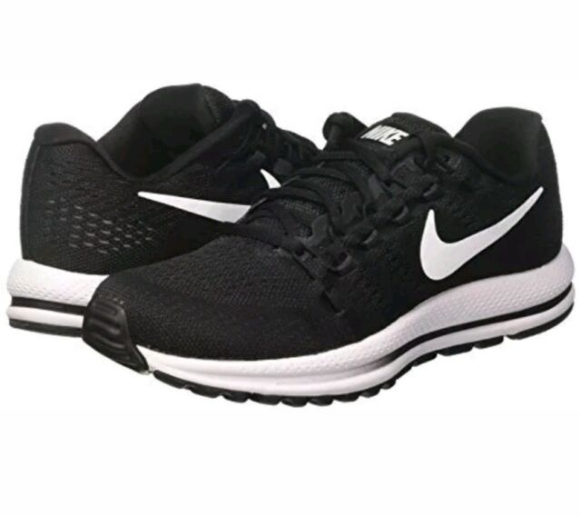 2bc881433ea9b Nike Air Zoom Vomero 12 Black White Women Running Shoes SNEAKERS 863766-001  Sz 5 for sale online