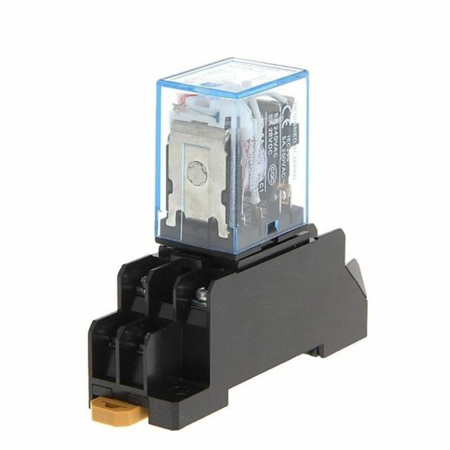 Relays MY2NJ 8 Pin PYF08A 220/240V AC Electrical Power Relay with Base DPDT