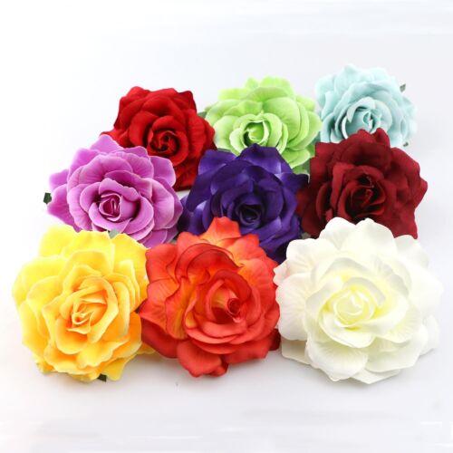 """5-100Pcs Mix 4/""""Artificial Rose Heads Flower Silk Bulk Wedding Fake Bouquet Decor"""