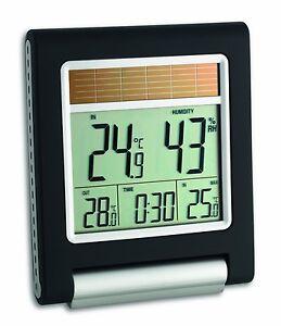tfa xl solar funk thermometer 3042 thermo hygrometer au ensensor uhr au en innen ebay. Black Bedroom Furniture Sets. Home Design Ideas