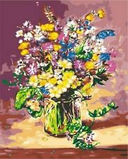 Flowers In Vase Vintage Classical Propylene Paint By Number Kits Adults DIY Tool