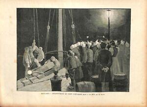 Debarquement-du-corps-d-039-un-marin-mort-a-la-mer-Auguste-Besnou-1895-ILLUSTRATION