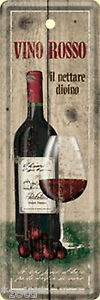 Nostalgic-Art-Wine-Rosso-Red-Wine-Glass-Bookmarks-Tin-Sign-15-x-5