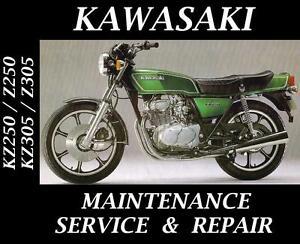 Kawasaki-KZ250-KZ305-KZ-Z-250-305-Service-Repair-Maintenance-Rebuild-Manual