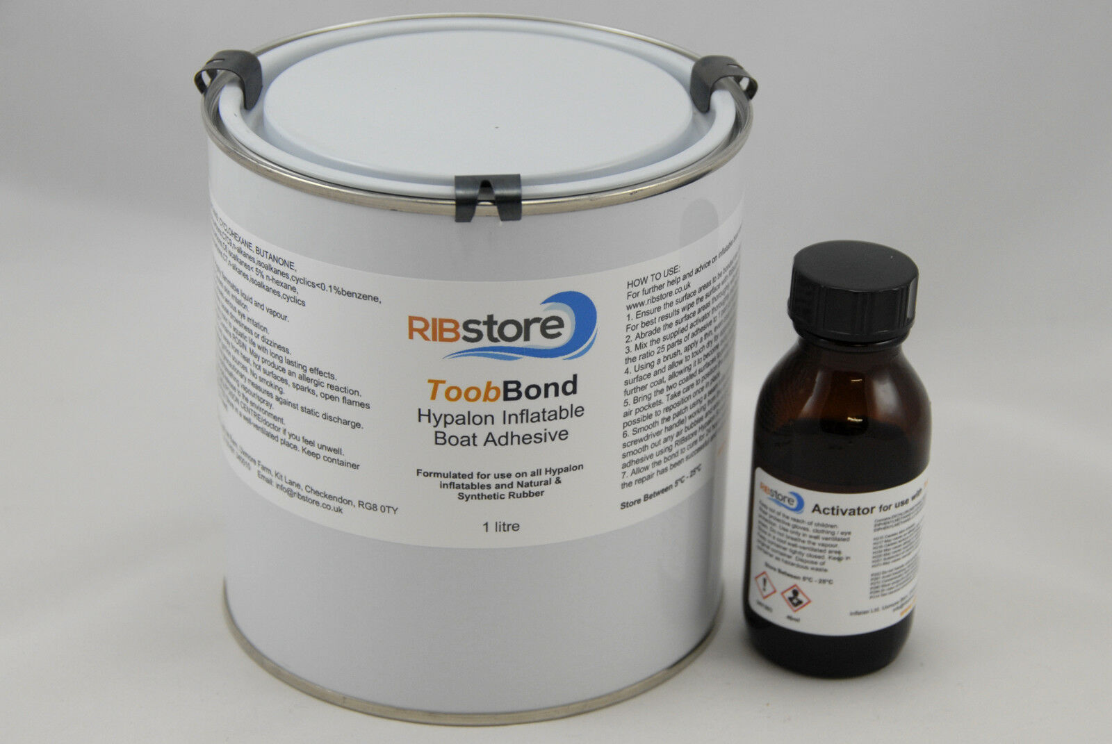 ToobBond 2-Part Hypalon Adhesive Glue RIB Inflatable Boat Repair 1 LITRE