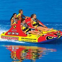 Sportsstuff Bandwagon 2+2 Inflatable Water 4 Rider Tube Boat Towable 53-1620