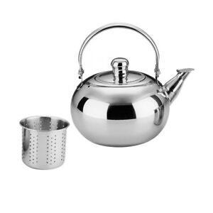 Image Is Loading Stainless Steel Tea Kettle Teapot Indoor Outdoor Induction