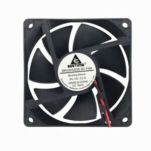 Big-Airflow-Brushless-PC-Computer-Case-Cooling-Fan-8cm-80mm-80x80x20mm-12V-2pin