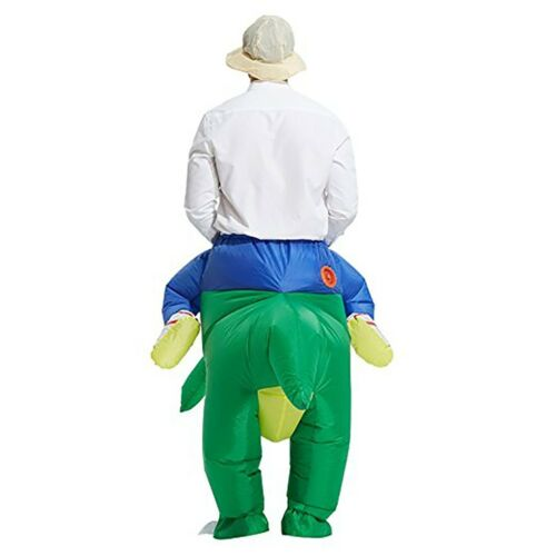 DH Halloween Inflatable Ride Dinosaur T-Rex Party Role Play Fancy Costume
