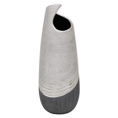 Keramik-Vase Silverline 25cm silber//schiefer wasserdicht 213261-25