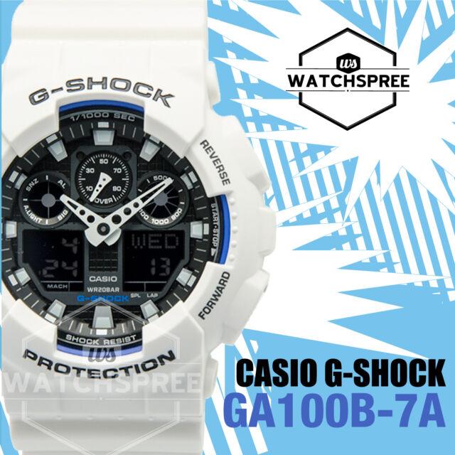 Casio G-Shock Bold Face, Analog-Digital Series Watch GA100B-7A AU FAST & FREE*