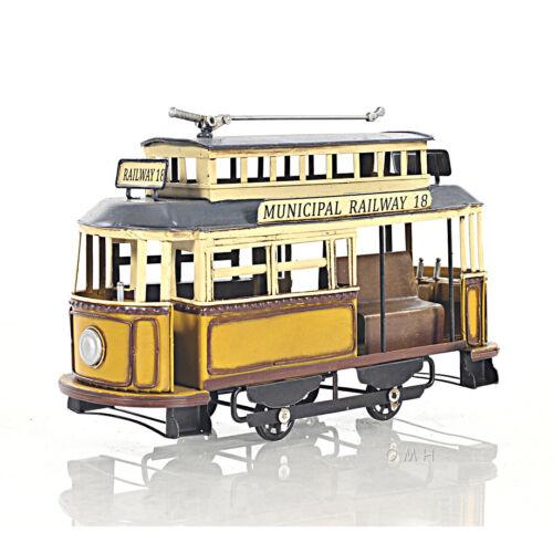 Trolley Streetcar Municipal Railway Cable Car Metal Scale Model 10.5 Decor New