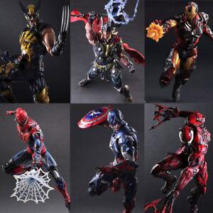Play-Arts-Kai-Iron-Man-Spider-Man-Captain-America-PVC-Action-Figur-Modell-Spielzeug