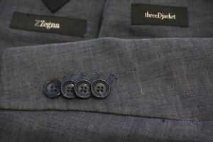 Ermenegildo Zegna Z Linen Blend ThreeDjacket Sport Coat Slubby Summer Sz 44L