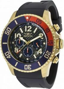Invicta-Pro-Diver-13730-Men-039-s-Round-Carbon-Analog-Chrongraph-Date-Watch