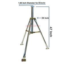 "Satellite Dish Tripod Directv 4' 1 5/8"" Mast RV Portable Folding Stand Tailgate"