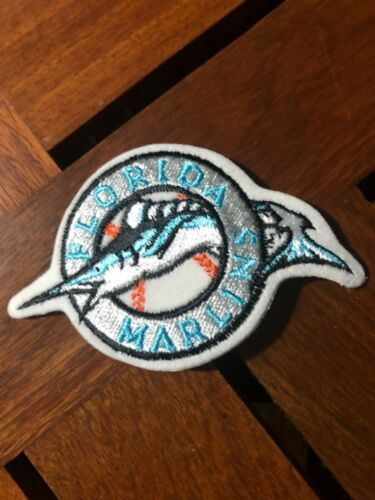 """100 LOT FLORIDA MARLINS IRON ON PATCHES 3 5//8"""" X 2 1//4"""""""