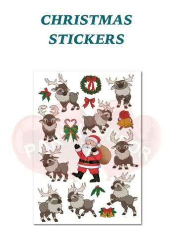 Sheet 1 set Christmas Characters Labels Stickers Self Adhesive Vinyl Labels