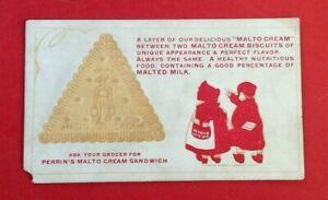 Vintage-Blotter-Perrin-039-s-Malto-Cream-Sandwich-somewhat-used