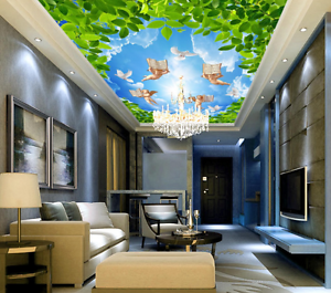 3D Angle Flying Ceiling WallPaper Murals Wall Print Decal Deco AJ WALLPAPER AU