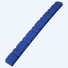 5 x Barrette pesi adesivi colore BLU Contrappesi equilibratura cerchi moto