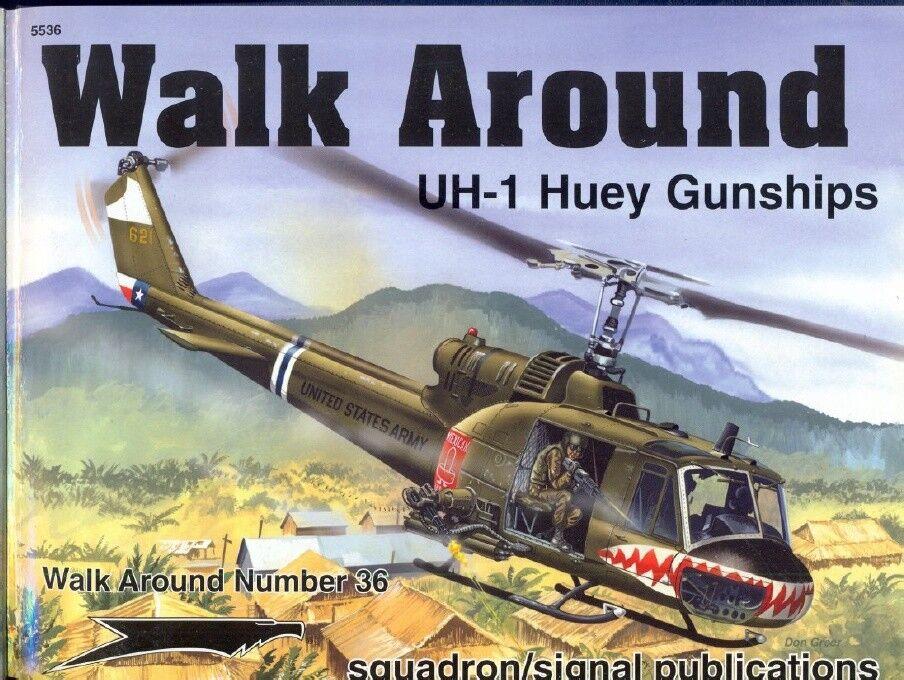 promociones UH-1 UH-1 UH-1 HUEY GUNSHIPS-SQUADRON SIGNAL WALK AROUND N.36-AUTOGRAPHED BY WAYNE MUTZA  descuento de ventas