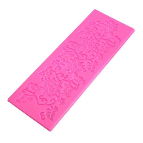 1x silicone fondant gâteau dentelle sucre artisanat mat texture fleur moule IU