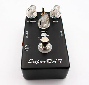 Upgraded RAT Overdrive Distortion Fuzz Guitar Effect Pedal Based on Pro Co RAT