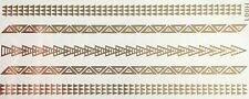 Tattoo Einmal Flash Klebe Temporary Gold 5teile Armband Hals Kette Fuß Neu H1