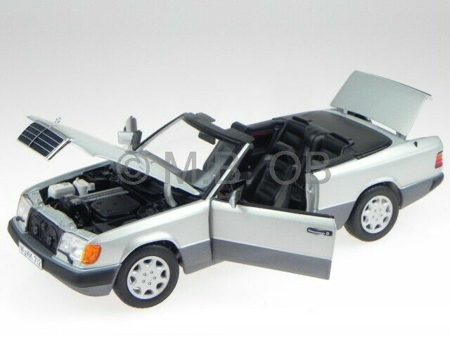 Mercedes A124 300 CE-24 Cabrio argent véhicule miniature 183565 Norev 1 18