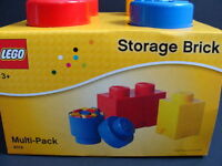 Lego Storage Brick Multi-pack Set 4014 Project Case 2 Stud Red Organizer