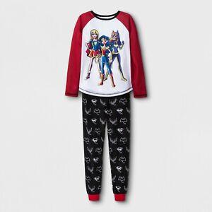 230d69f2f7 2pc NEW DC SUPER HERO GIRL Wonder Woman SuperGirl Batgirl PAJAMA top ...