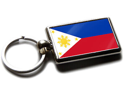 Armenia Flag National Colours Quality Chrome Keyring Picture Both Sides