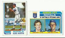 VINTAGE 1982 TOPPS BASEBALL CARDS – KANSAS CITY ROYALS – MLB