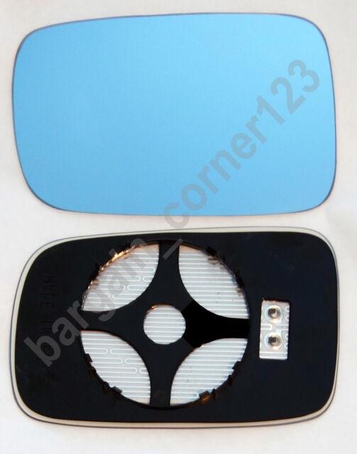 BMW 3 SERIES 1998-/>2004 DOOR MIRROR GLASS BLUE ASPHERIC,HEATED /& BASE,LEFT SIDE