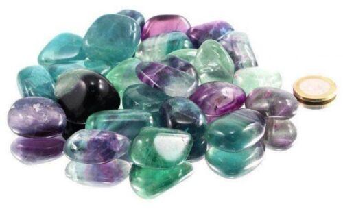 100 g Fluorit Trommelsteine 2 bis 3,5 cm getrommelt Edelstein grün A Qualität