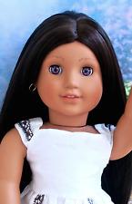 OOAK American Girl Historical Josefina Doll Long BEAUTIFUL Custom Wig Purple Eye