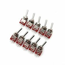 10pcs Sh Ts 4 Series 3pin On On 2position Spdt Sub Miniature Toggle Switch