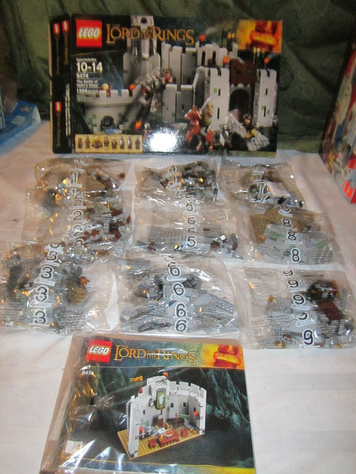 LEGO The Lord of the Rings The Battle of Helm's Deep 9474 NEW w/ Minifigs 1368 p