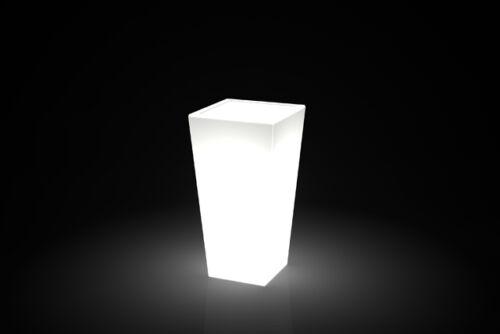 Vase Resin Square Top Modern Bright Light from outer//inner h39 53,66,89