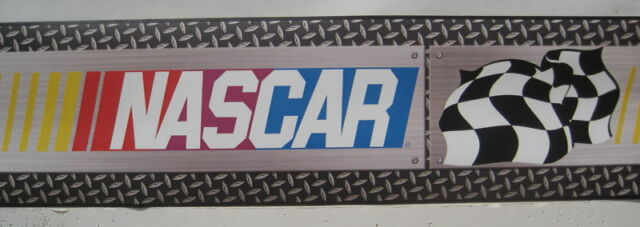 Nascar Checkered Flag Prepasted Wall Border Roll: York Nascar Checkered Flag Prepasted Wall Border Roll For